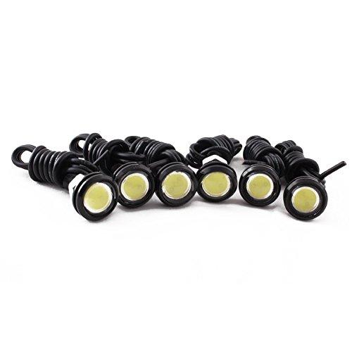 HOT SYSTEM 9w LED Eagle Eye Bumper Light Motorcycle Fog DRL Tail Backup Light White 6pcs