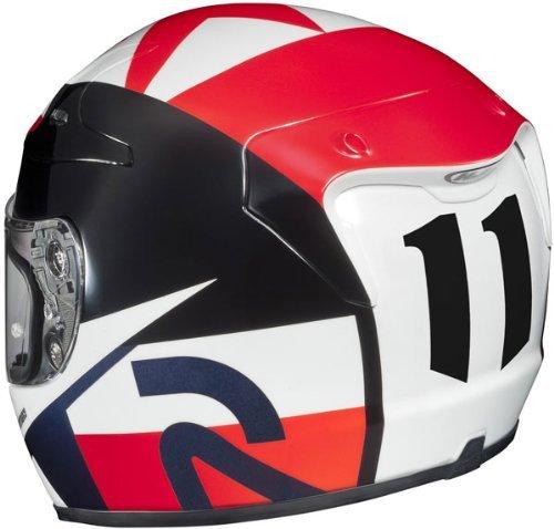 HJC RPHA-10 Ben Spies Replica III Full Face Motorcycle Helmet - RedWhiteBlue X-Large