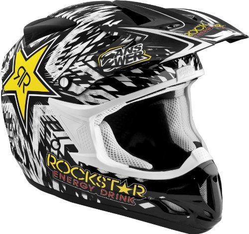 Answer Comet Rockstar Helmet  Gender MensUnisex Helmet Category Offroad Helmet Type Offroad Helmets Primary Color Black Size XS Distinct Name Rockstar Black 454398