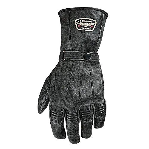Street & Steel Richmond Leather Motorcycle Gloves - Lg, Black