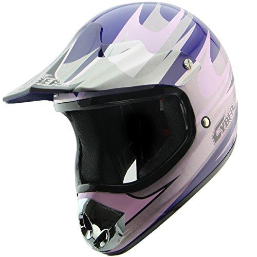 Cyber Helmets UX-10 BlueSilver Motocross Helmet - Large