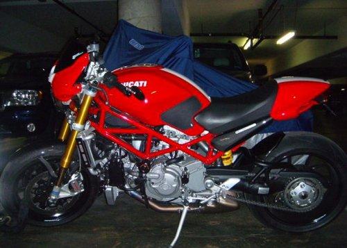 Techspec Tank Grips - 1998-2008 Ducati Monster - Techspec 62-0081-SS - Snake Skin - Black