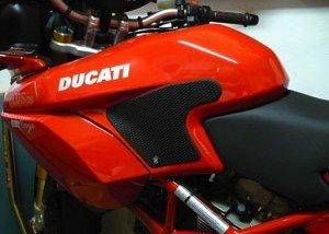 Techspec Tank Grips - 2002-2009 Ducati Multistrada - Techspec 62-0033-SS - Snake Skin - Black