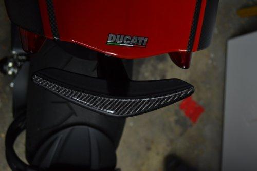 DUCATI Diavel tail grip Trim Real Carbon Fiber sticker protector pad sticker cromo dark strada
