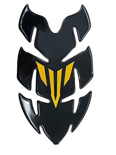 Horn Shape Gold Real Carbon Fiber 3D Sticker Vinyl Decal Emblem Protection Gas Tank Pad For YAMAHA MT03 MT07 MT09 FZ03 FZ09 FZ07 ALL
