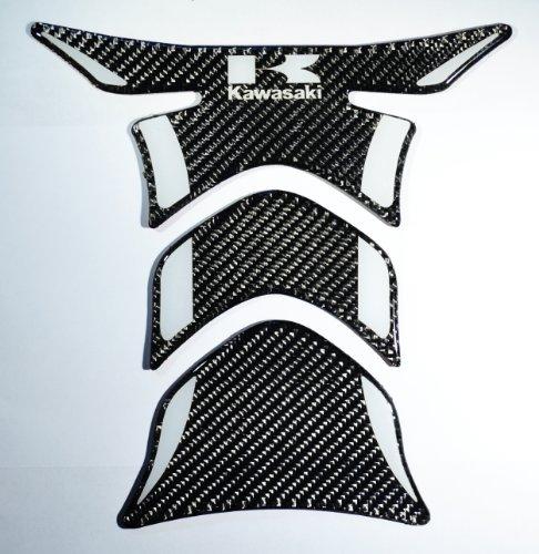 Kawasaki ninja ZZR ZX real Carbon Fiber tank Protector pad Decal Sticker trim