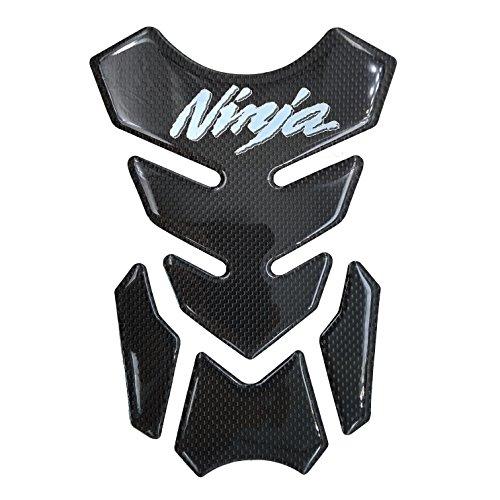 Real Carbon Fiber Chrome 3D Sticker Vinyl Decal Emblem Protection Gas Tank Pad For KAWASAKI Ninja 250 300 ALL Series