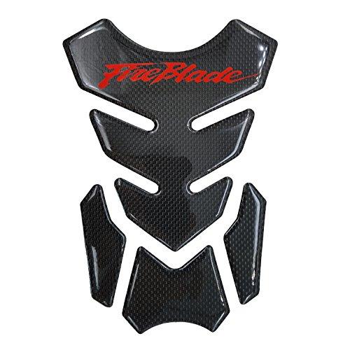 Red Real Carbon Fiber 3D Sticker Vinyl Decal Emblem Protection Gas Tank Pad For Honda FireBlade