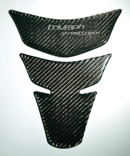 Carbon Fiber Motorcycle Tank Protector Pad for Triumph Street Triple