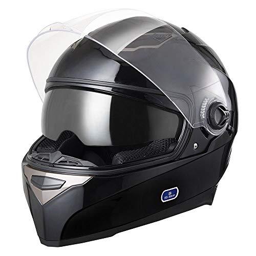 AHR DOT Motorcycle Full Face Helmet Dual Visors Sun Shield Street Bike Motorbike Touring ABS Helmet