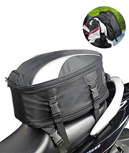 Motorcycle Seat Bag Meago Dual Use Motorcycle Backpack Black Tail Bag Waterproof Luggage Bags Motorbike Helmet Bag Storage Bag B A