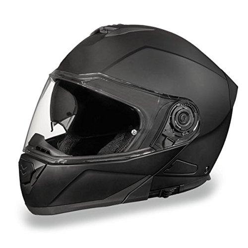 Flat Black Bluetooth Modular Motorcycle Helmet Size 2XL XX-Large