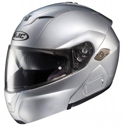 HJC Mens Sy-Max III Modular Motorcycle Helmet Silver XXL 2XL