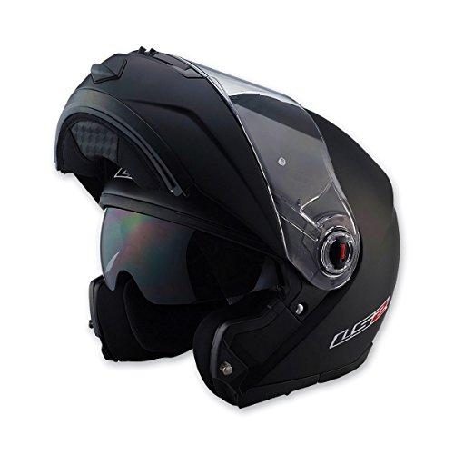 LS2 Helmets FF386 Modular Motorcycle Helmet Solid Matte Black Small