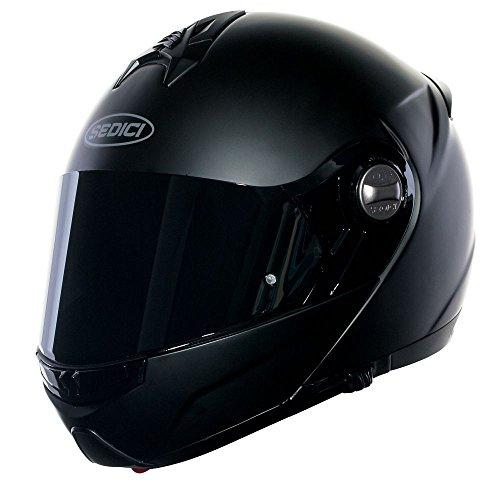 SEDICI Sistema Modular Motorcycle Helmet - MD Matte Black