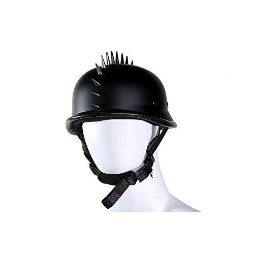 German Style Flat Novelty Helmet with Spikes Size SMLXL2XL 2XL BLACK