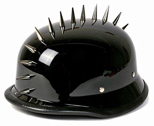 German Style Shiny Novelty Helmet with Spikes Size SMLXL2XL XXL BLACK