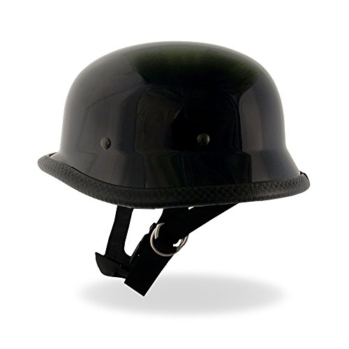 Hot Leathers German Style Shiny Novelty Helmet Gloss Large