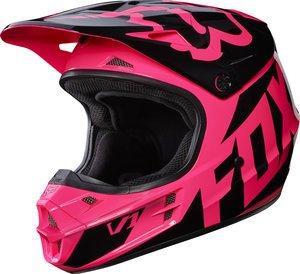 Fox Racing Adult V1 2017 Motocross Dirt Bike Helmet Race Pink Womens Small
