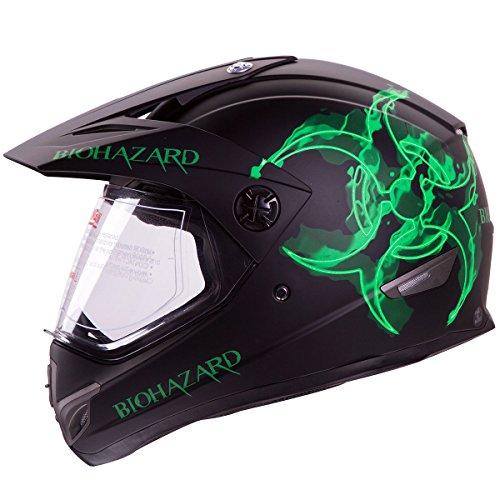 IV2 BIOHAZARD High Performance Dual Sport Motocross ATV Dirt Bike Helmet DOT L