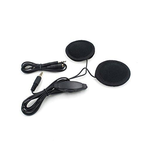 Tinksky 35mm Bicycle Motorcycle Motorbike Helmet MP3 Speaker Headphone with Volume Black
