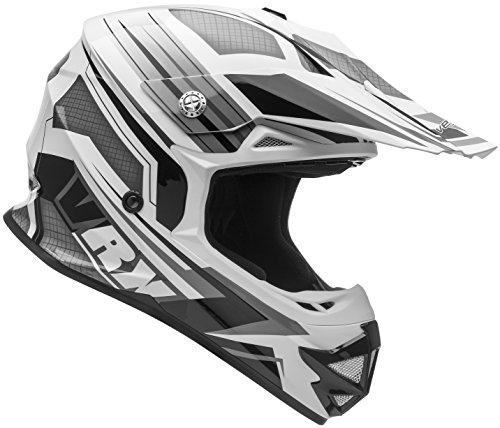 Vega Helmets VRX Advanced Dirt Bike Helmet – Off-Road Full Face Helmet for Motocross ATV MX Enduro Quad Sport 5 Year Warranty Black Venom Graphic Large