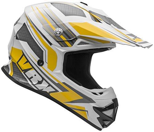 Vega Helmets VRX Advanced Dirt Bike Helmet – Off-Road Full Face Helmet for Motocross ATV MX Enduro Quad Sport 5 Year Warranty Yellow Venom Graphic Large