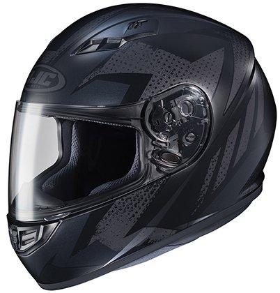 HJC Helmets CS-R3 Unisex-Adult Full Face Treague Motorcycle Helmet BlackGrey Medium