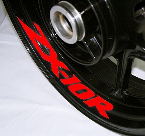 AFBA Kawasaki ZX10R Inner Rim Motorcycle Sticker Decal Stripe Gloss Red