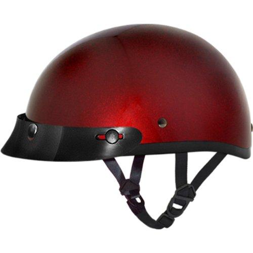 Daytona BasicCustom DOT Approved 12 Shell Harley Touring Motorcycle Helmet - Black Cherry  Large