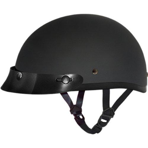Daytona BasicCustom DOT Approved 12 Shell Harley Touring Motorcycle Helmet - Dull Black  Medium