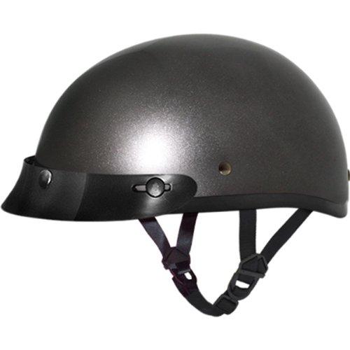 Daytona BasicCustom DOT Approved 12 Shell Harley Touring Motorcycle Helmet - Gun Metal Grey  4X-Large