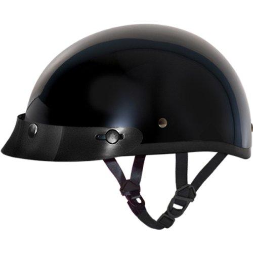 Daytona BasicCustom DOT Approved 12 Shell Harley Touring Motorcycle Helmet - Hi-Gloss Black  Small