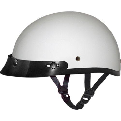 Daytona BasicCustom DOT Approved 12 Shell Harley Touring Motorcycle Helmet - Hi-Gloss White  2X-Large