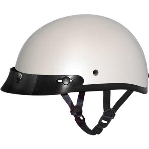Daytona BasicCustom DOT Approved 12 Shell Harley Touring Motorcycle Helmet - Pearl White  4X-Large