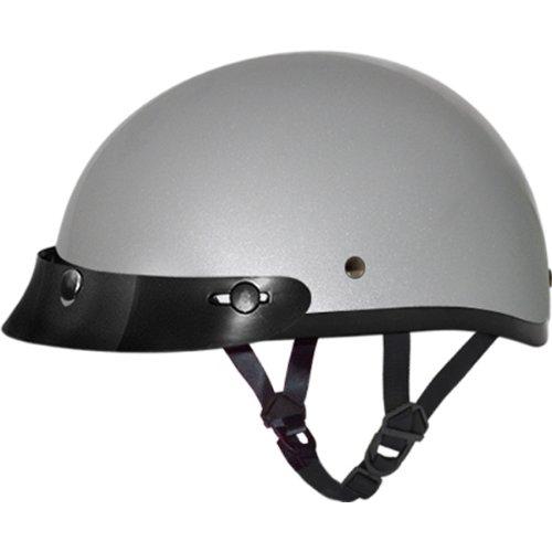 Daytona BasicCustom DOT Approved 12 Shell Harley Touring Motorcycle Helmet - Silver Metallic  Medium