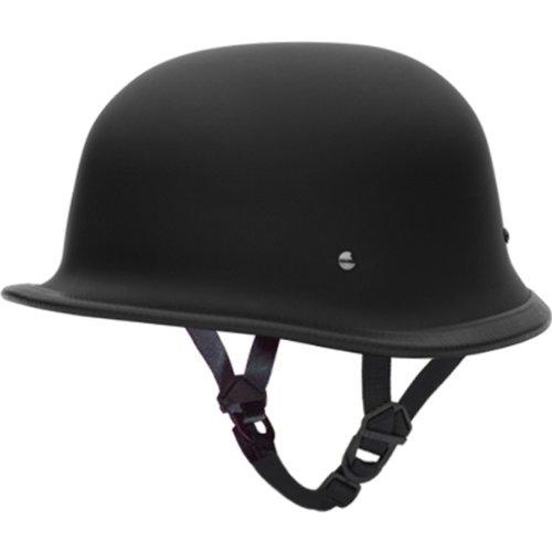 Daytona German DOT Approved Cruiser Touring Motorcycle Helmet - Dull Black - X-Large