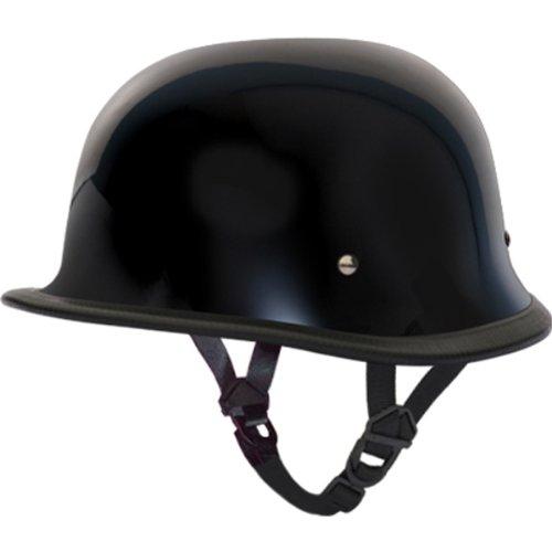 Daytona German DOT Approved Cruiser Touring Motorcycle Helmet - Hi-Gloss Black - Large