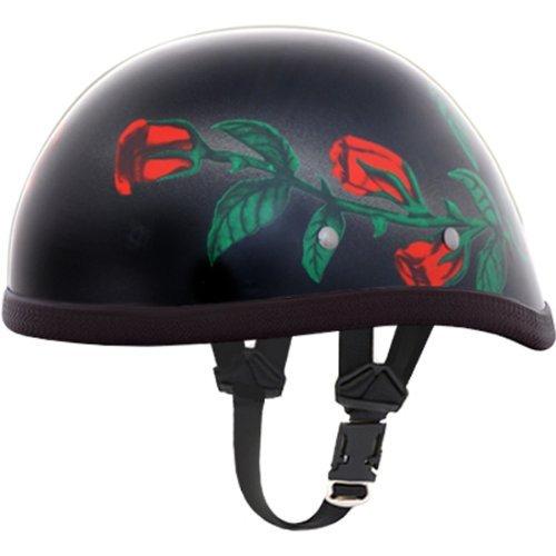Daytona Rose Eagle Novelty Harley Touring Motorcycle Helmet - Red - 2X-Large