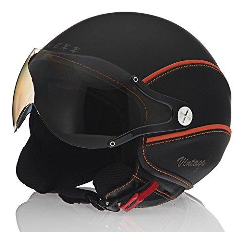 Nexx Vintage X60 Harley Touring Motorcycle Helmet - BlackOrange  X-Large