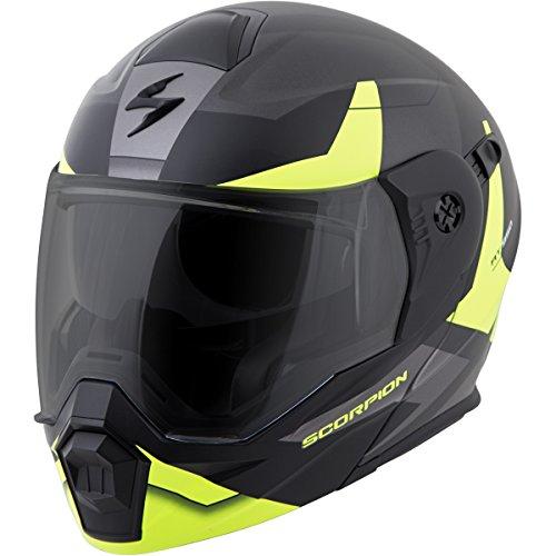 ScorpionEXO Unisex-Adult ModularFlip Up Adventure Touring Motorcycle Helmet Hi-Viz Large EXO-AT950 Neocon