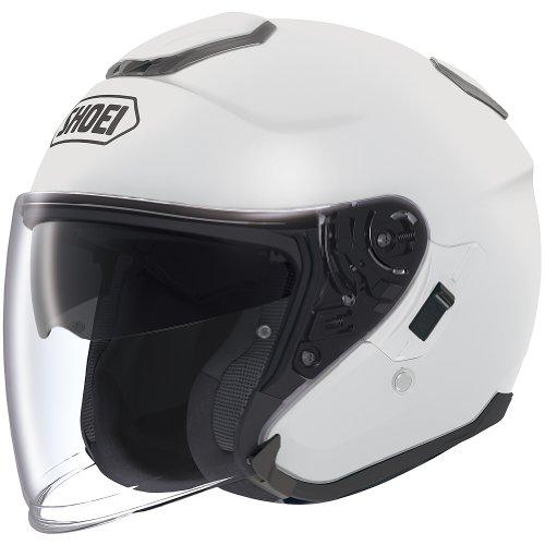 Shoei Solid J-Cruise Touring Motorcycle Helmet - White  Large