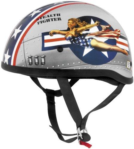 Skid Lid Bomber Pinup Original Harley Touring Motorcycle Helmet - X-Large