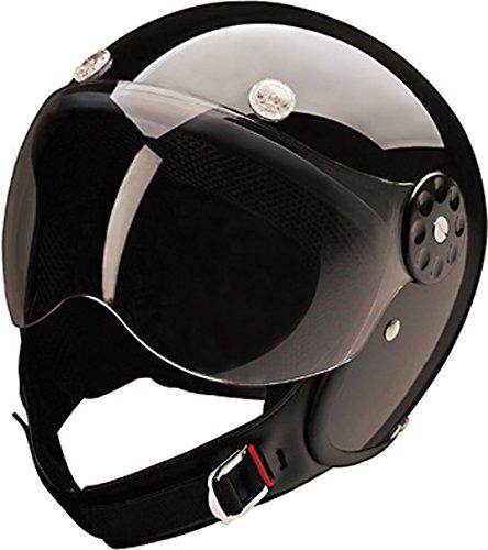 Glossy Black Open Face DOT Motorcycle Helmet Extra Small