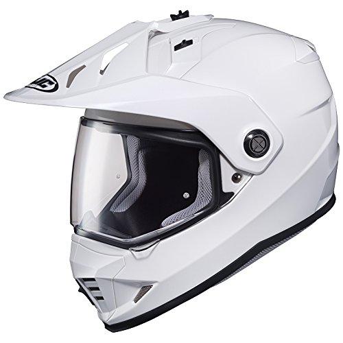 LARGE HJC DS-X1 Full Face DOT Motorcycle Helmet Dual Sport wVisor White Solid