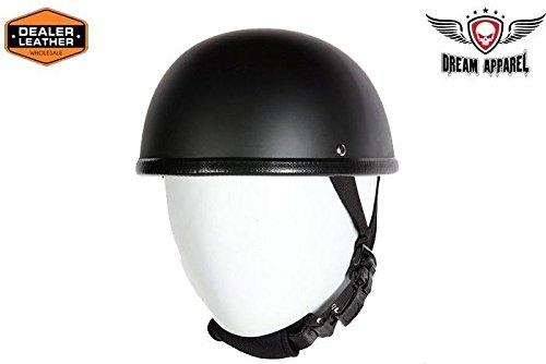Motorcycle Flat Blk EZ rider Novelty Non Dot Helmet with y strap quick release  Men 2XL Regular