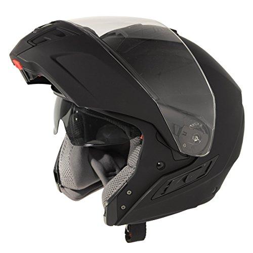 Hawk ST-11121-7FB FX Flat Black Modular Helmet - Medium