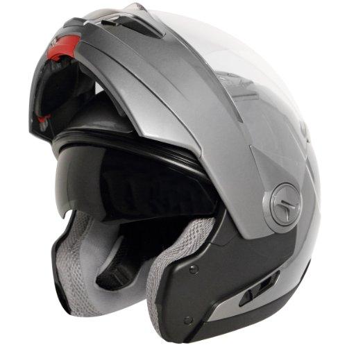 Hawk ST-1198 Transition 2 in 1 Gun Metal Modular Helmet - Large