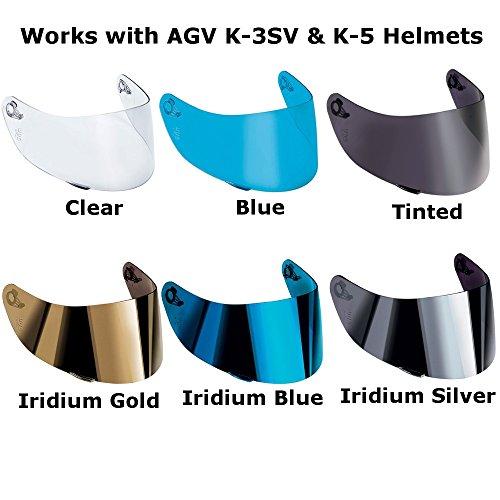 AGV K-3 SV K-5 Motorcycle Helmet Shield Visor Windscreen Clear Tint ALL SIZES MLLXLXXL Iridium Gold – GT2