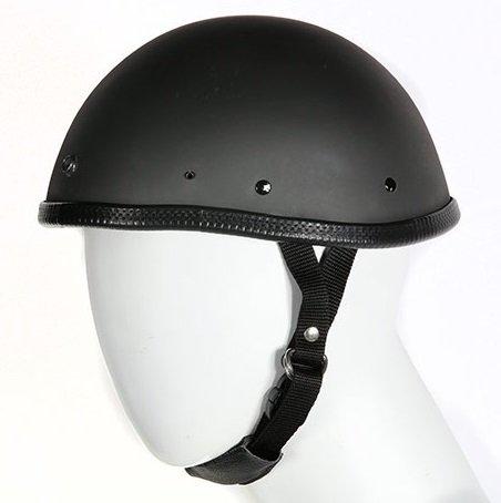 Smokey Flat Black Novelty Motorcycle Helmet with Visor Snaps Size 2XL XX-Large